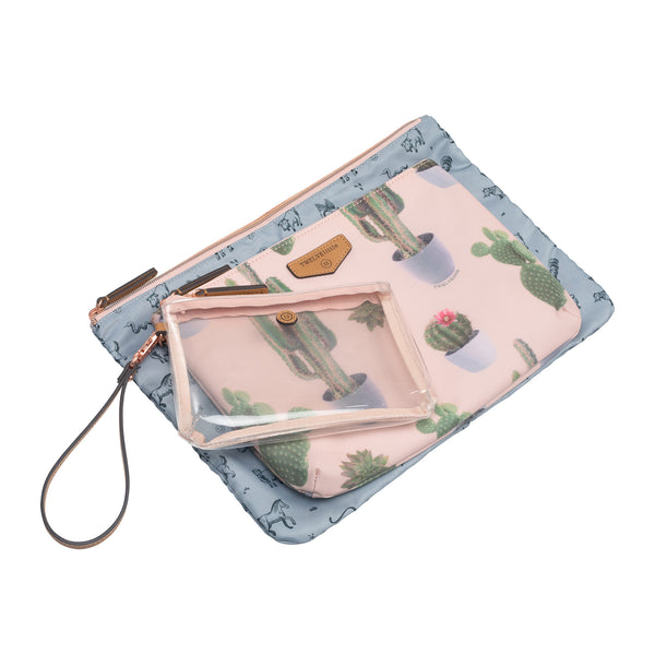 Trio Pouch in Leaf Print 2.0 - TWELVElittle | Diaper Bags, Backpacks Diaper Bags, Diaper Bag Totes & Kids Fashion - Men, Women & Unisex