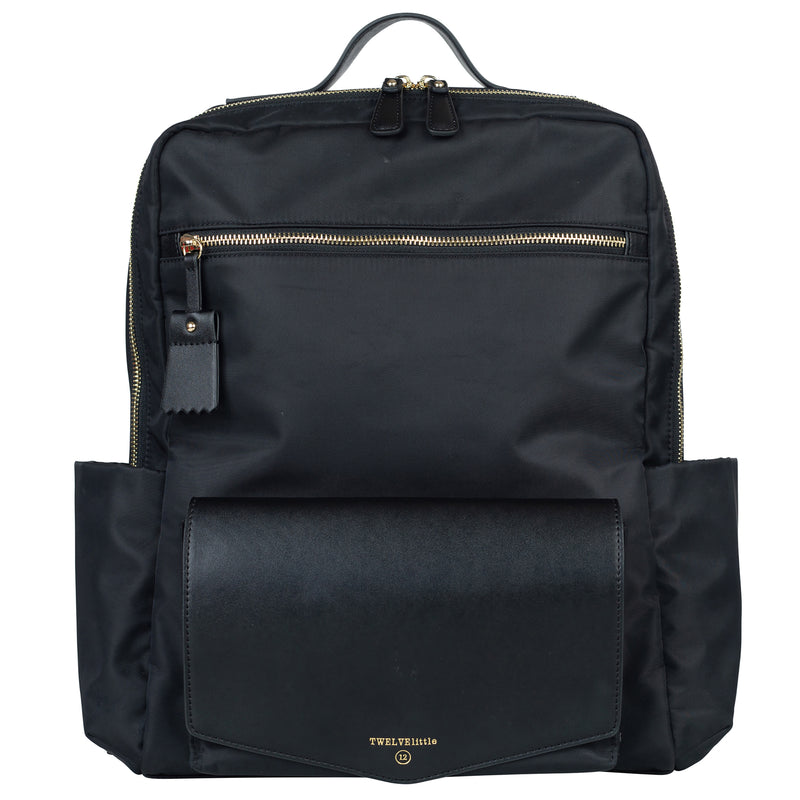 Peek-A-Boo Backpack in Black | TWELVElittle Mens, Womens & Unisex designer Backpack Diaper bags