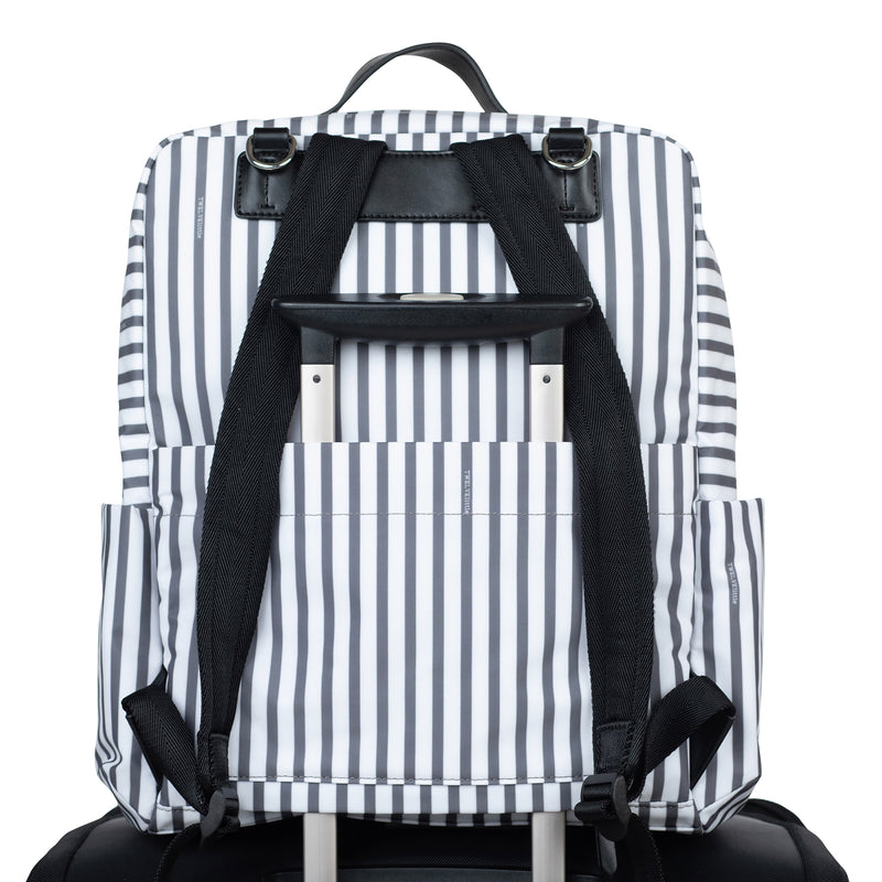 Peek-A-Boo Backpack in Stripe/Red | TWELVElittle Mens, Womens & Unisex designer Backpack Diaper bags