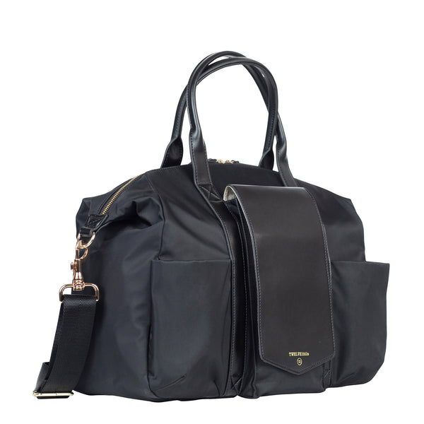 Peek-A-Boo Satchel in Black | TWELVElittle Mens, Womens & Unisex Crossbody satchel diaper bags