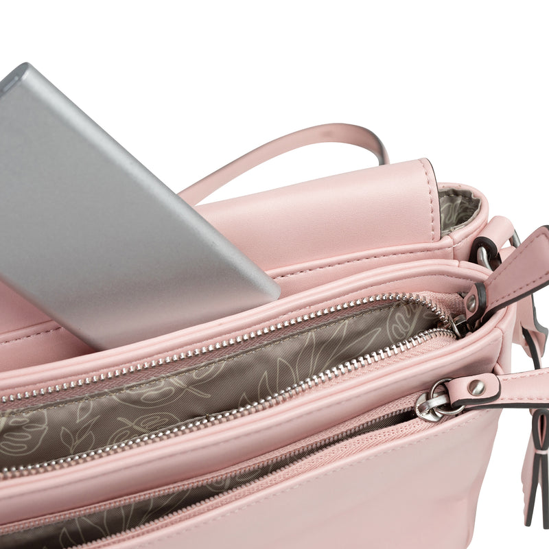 Peek-A-Boo Crossbody in Blush Pink | TWELVElittle Mens, Womens & Unisex Crossbody diaper bags