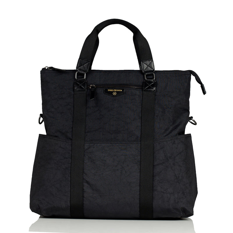 Unisex 3-in-1 Foldover Tote in Black 1.0