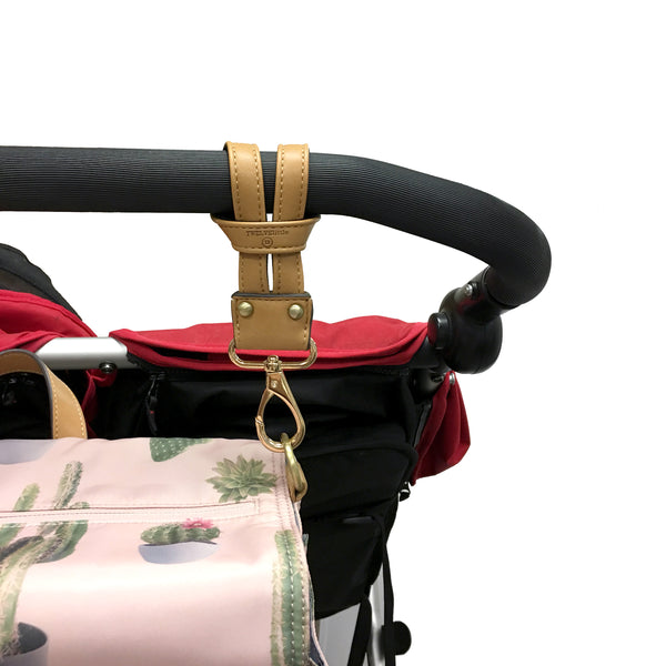 On-The-Go Stroller Clips in Tan