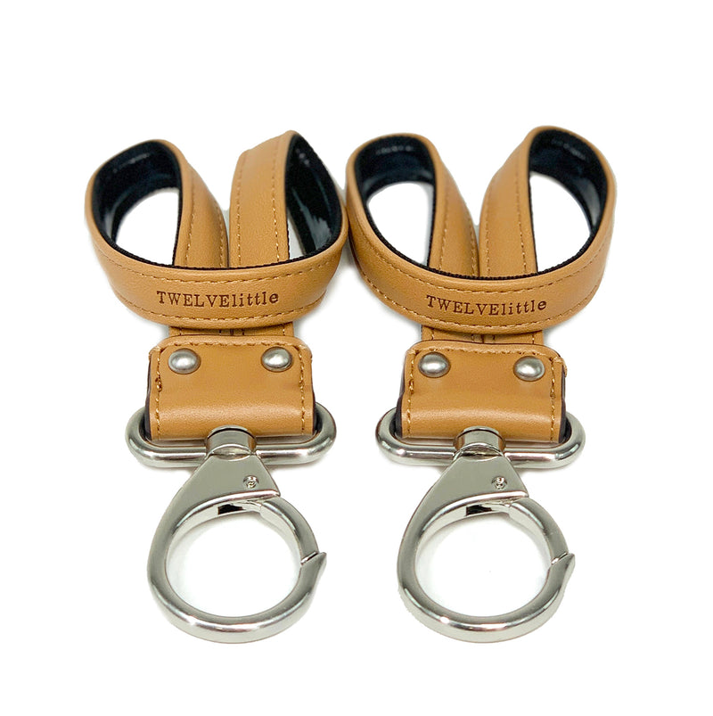 On-The-Go Stroller Clips 2.0 in Tan