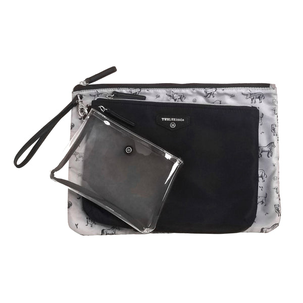 Trio Pouch in Black 2.0
