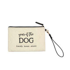 Year Of The Dog Pouch in White