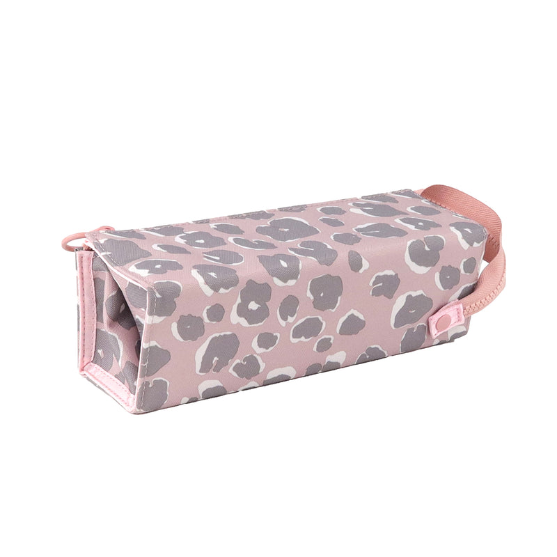 Adventure Pencil Case in Pink Leopard