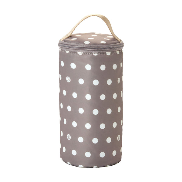 Insulated Bottle Pouch in Polka Dot Lining