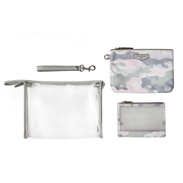 On-The-Go 3-In-1 Pouch in Blush Camo
