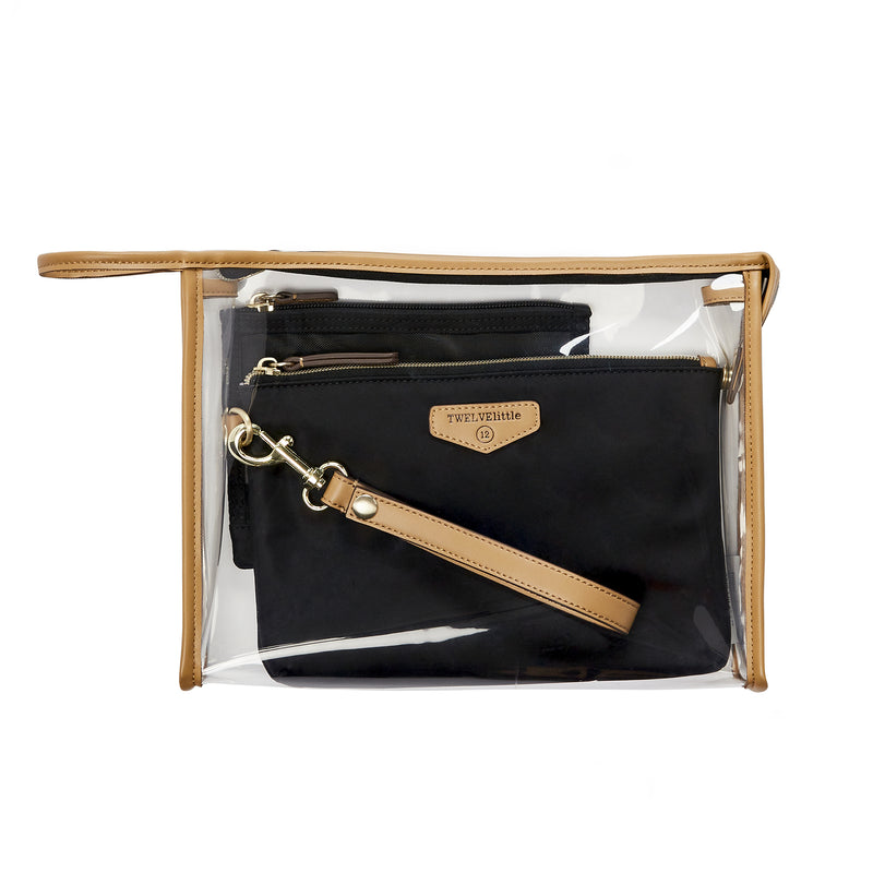 On-The-Go 3-In-1 Pouch in Black/Tan