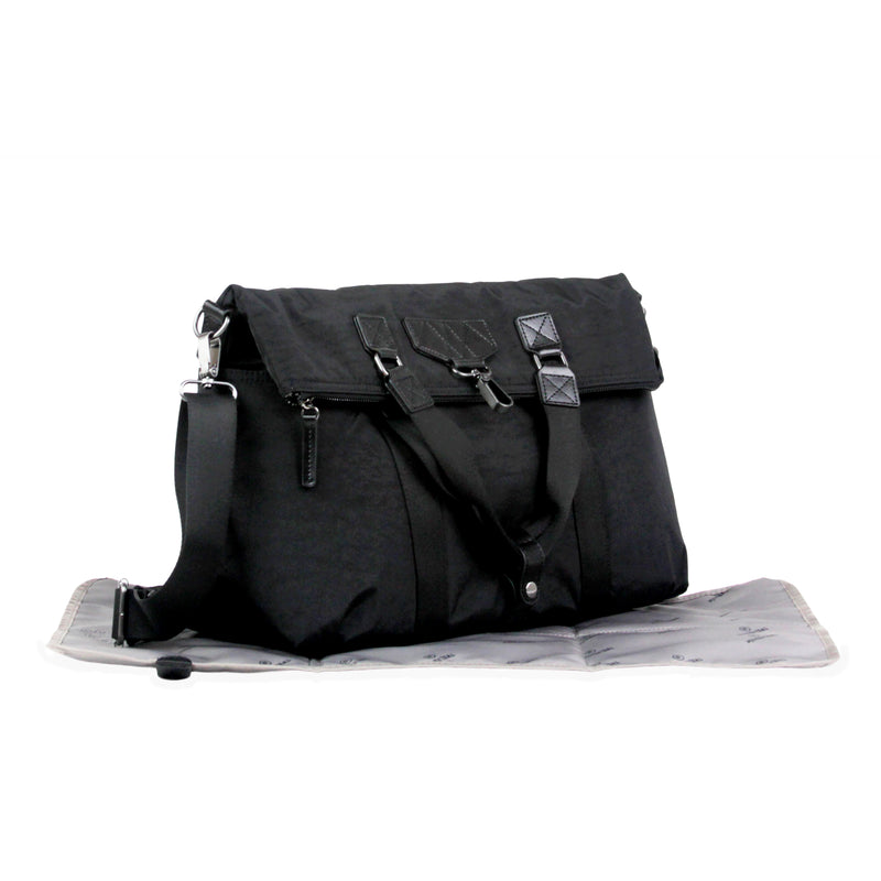 Unisex 3-in-1 Foldover Tote Black