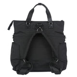 Unisex 3-in-1 Foldover Tote in Black