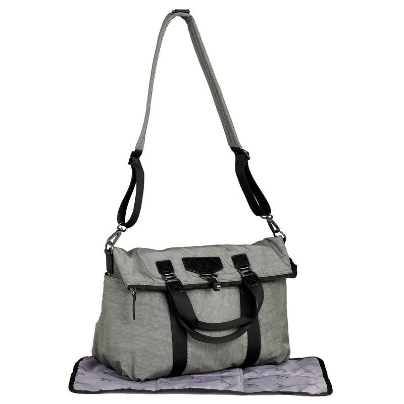 Unisex 3-in-1 Foldover Tote in Grey 1.0