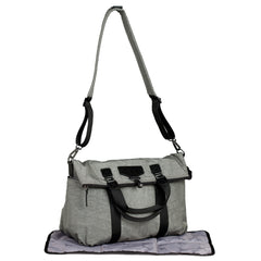 Unisex 3-in-1 Foldover Tote Grey