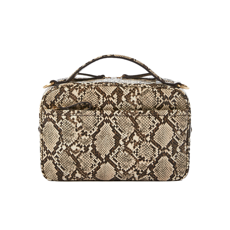 Luxe Diaper Clutch in Embossed Snake
