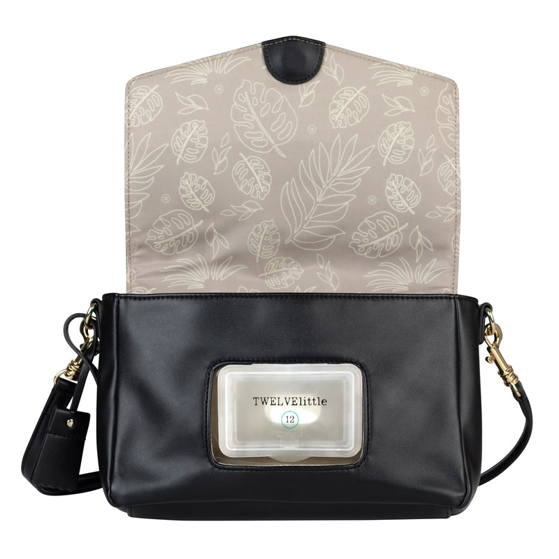Peek-A-Boo Crossbody in Black