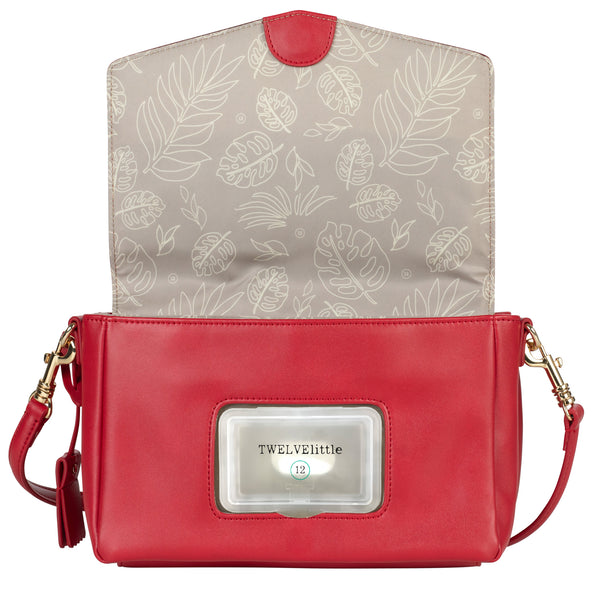 Peek-A-Boo Crossbody in Red