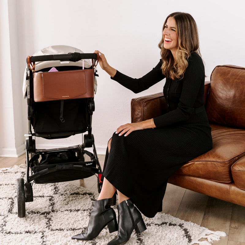 Peek-A-Boo Stroller Caddy in Toffee