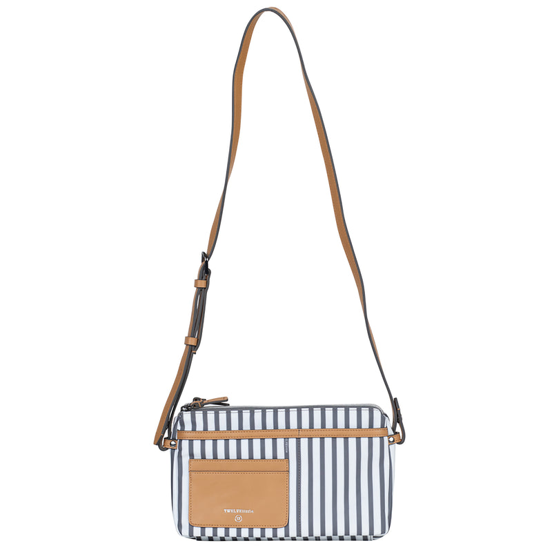 By-My-Side Crossbody in Stripe Print