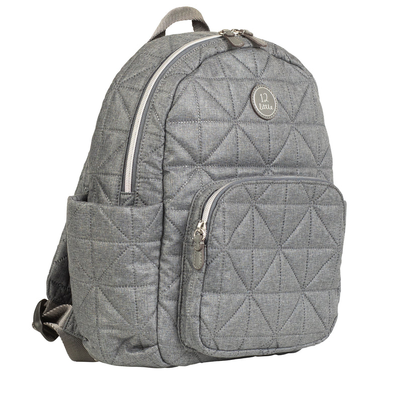 Little Companion Backpack in Grey Nylon 2.0