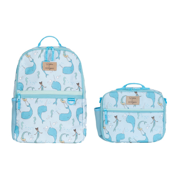 12little x Sarah Jane Kids Backpack and Lunch Bag Bundle in Blue