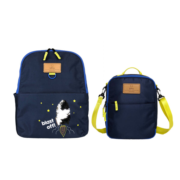 Adventure Kids Backpack and Lunch Bag Bundle in Navy