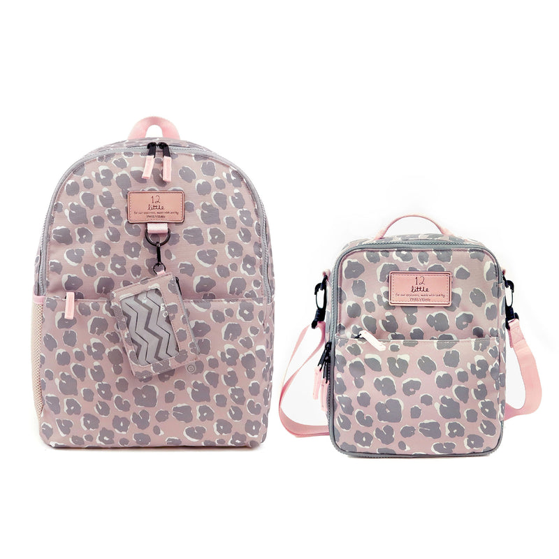 Adventure Kids Backpack and Lunch Bag Bundle in Pink Leopard