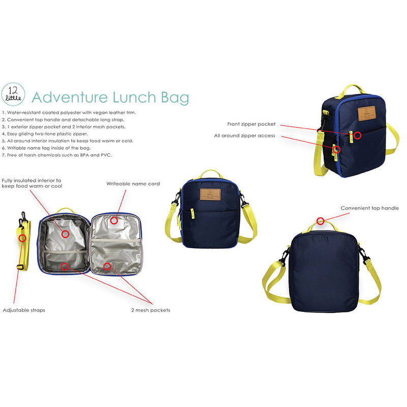 Adventure Lunch Bag in Navy