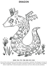 12Little Downloadable Animal Coloring Book - Dragon