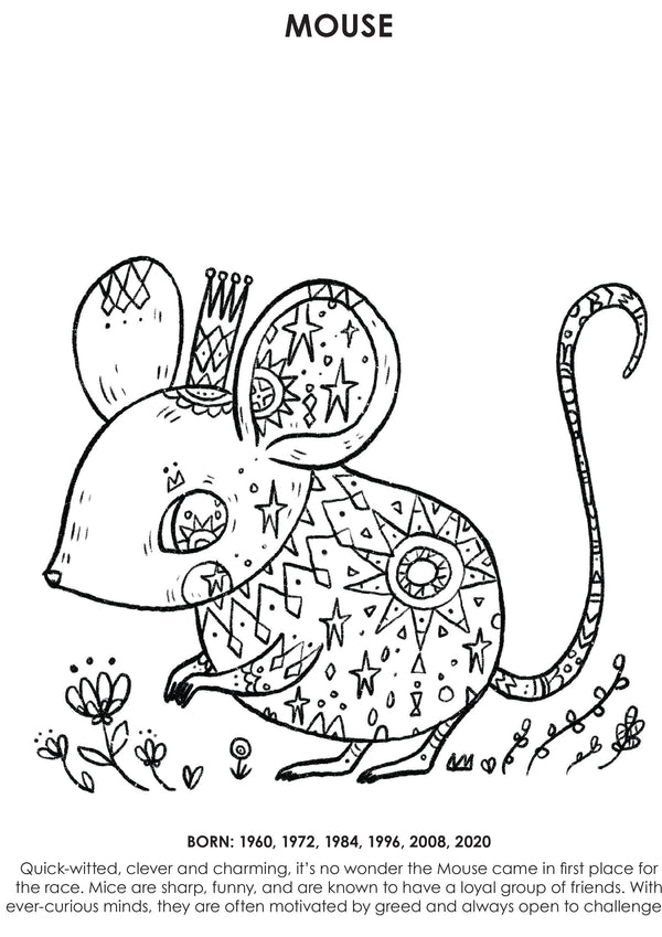 12Little Downloadable Animal Coloring Book - Mouse
