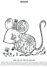12Little Downloadable Animal Coloring Book - Pig