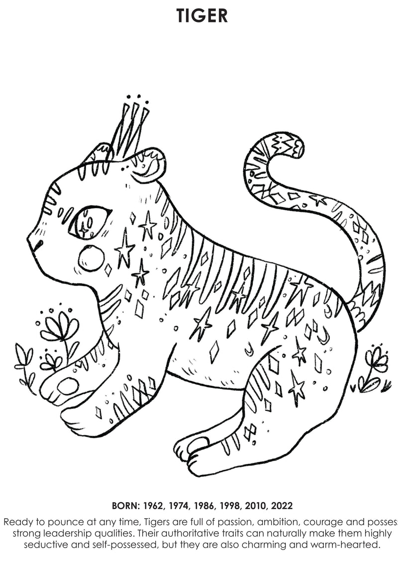 12Little Downloadable Animal Coloring Book - Horse