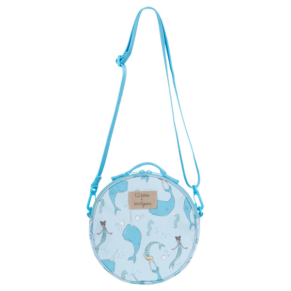 12Little x Sarah Jane, Under the Sea Round Bag in Blue