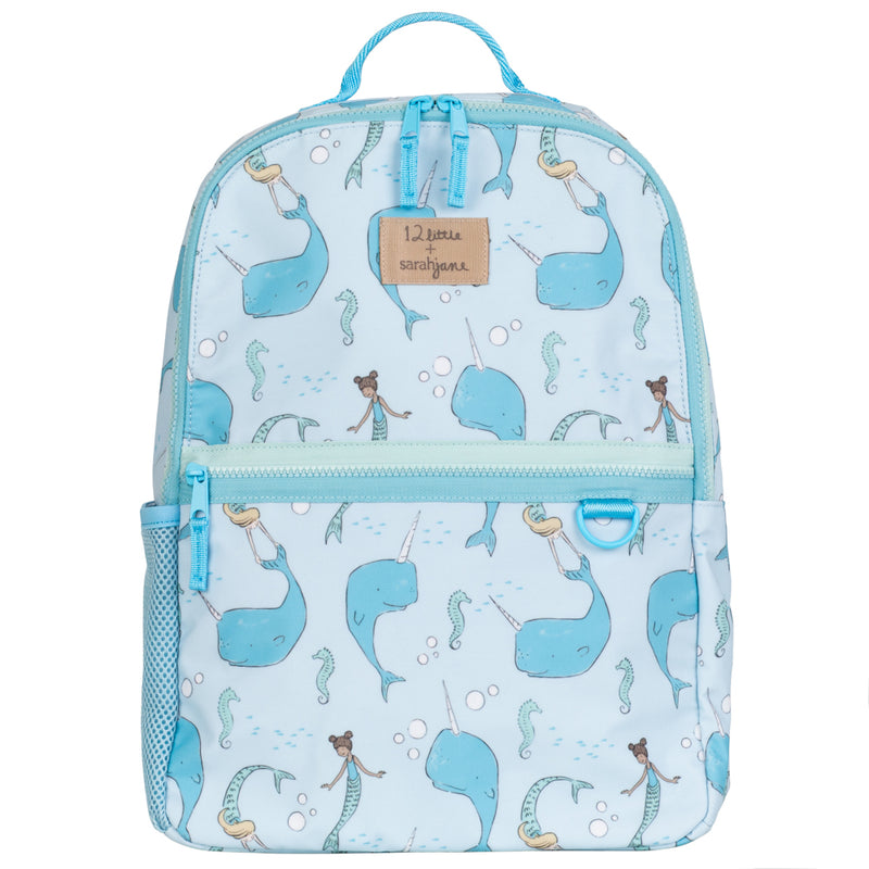 12Little x Sarah Jane, Under the Sea Backpack in Blue
