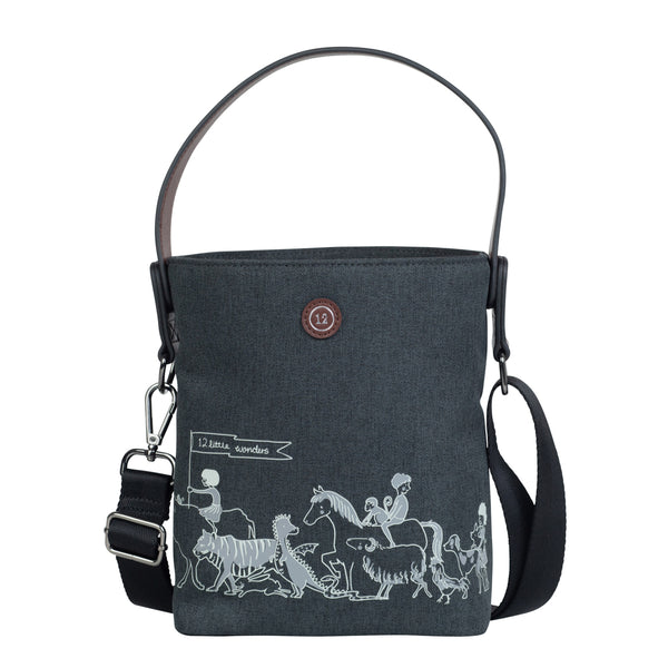 12Little x Sarah Jane, Parade Bottle Bag in Charcoal