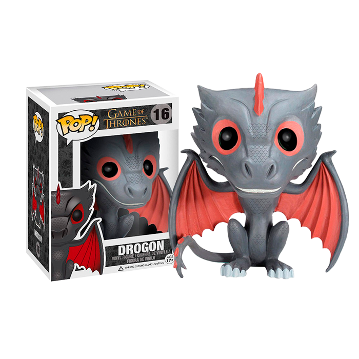 DRAGON FUNKO GAME OF THRONES  GRIS