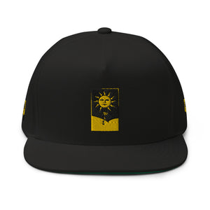 The Ascension High Fashion Street SUN GOD High Profile Flat Bill Cap Yupoong