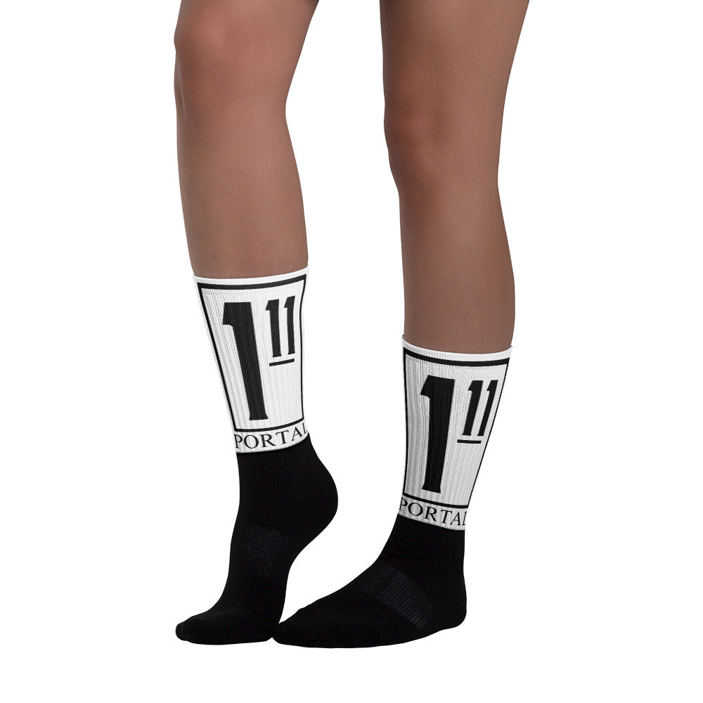 The Ascension High Fashion Street Portal Line Black Foot Sublimated Socks