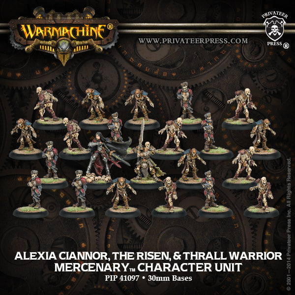 Mercenaries: Alexia Ciannor, The Risen & Thrall Warrior (22 models)