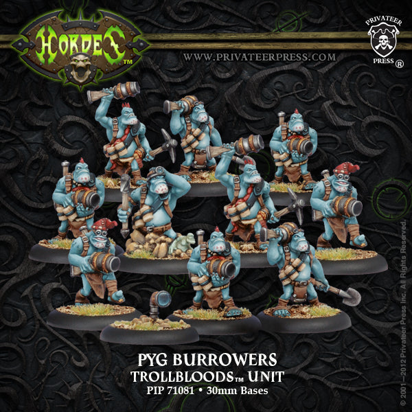 Trollbloods: Pyg Burrowers Unit (10 models)