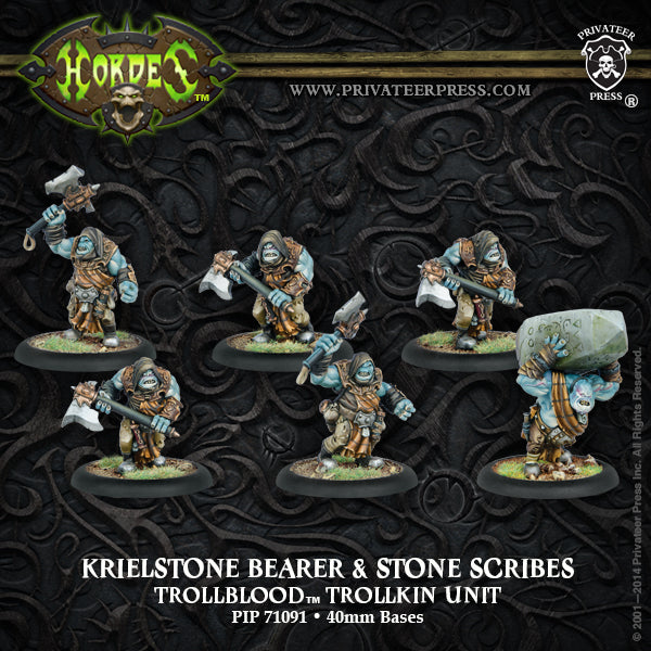 Trollbloods: Krielstone Bearer and Scribes Unit Box