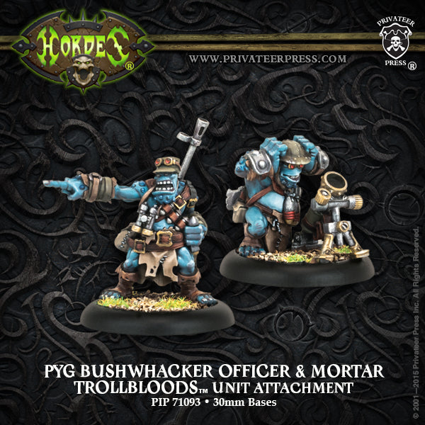 Trollbloods: Pyg Bushwhacker Officer & Mortar
