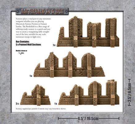Battlefield In A Box: Ruined Walls Sandstone