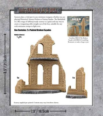 Battlefield In A Box: Broken Facade Sandstone