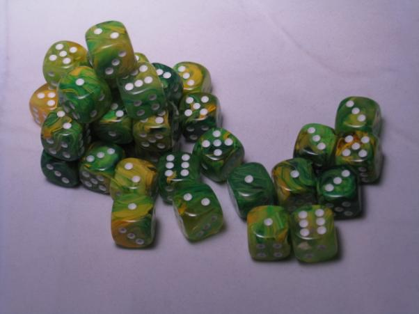 Chessex: Vortex 12mm Dandelion w/White (36)