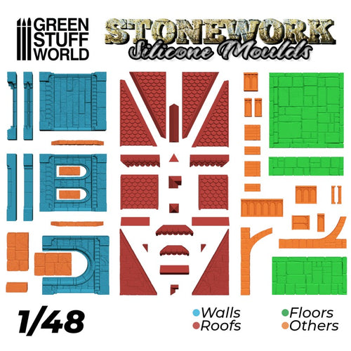 Green Stuff World: Stonework Silicone Moulds