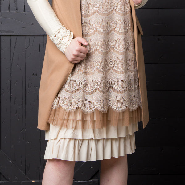 Bring on the Frill Layering Skirt | PLUS | cream