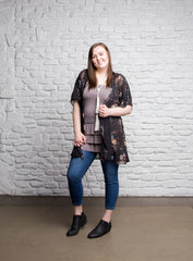 Bring on the Frill Layering Skirt | PLUS | gray