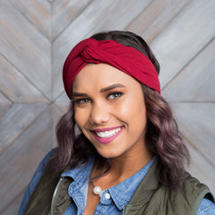 Boho Knotted Headwrap | Solid Color, accessories & boot socks, Peekaboo Chic | Modest Layering Apparel for women