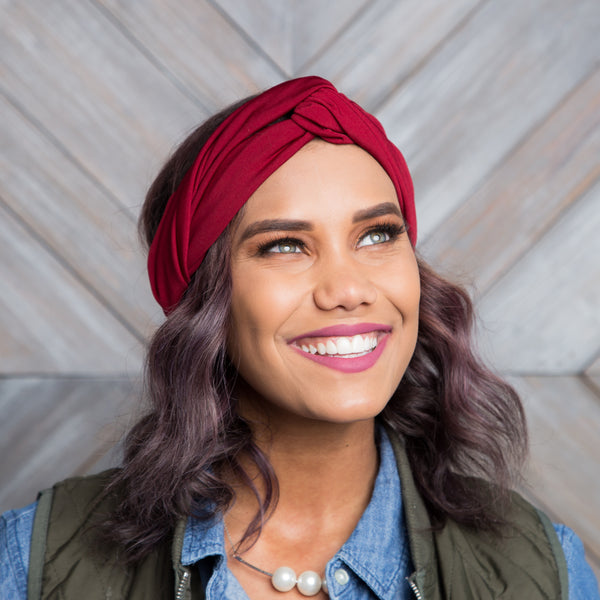 Boho Knotted Headwrap | Solid Color